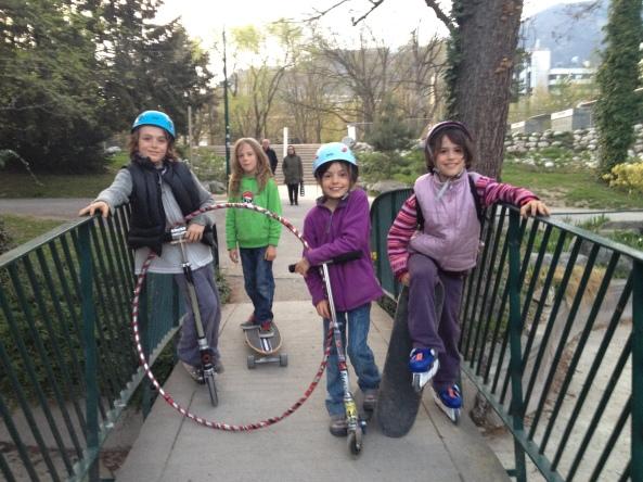 Robin (10 ans), Delphi (9 ans), Maïlys (9 ans) et Luce (8 ans) - le 3 mars 2012
