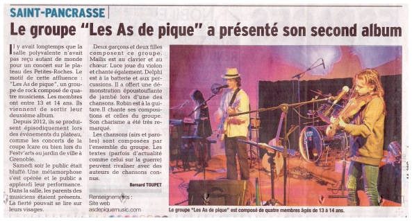 Dauphiné Libéré - mardi 8 décembre 2015