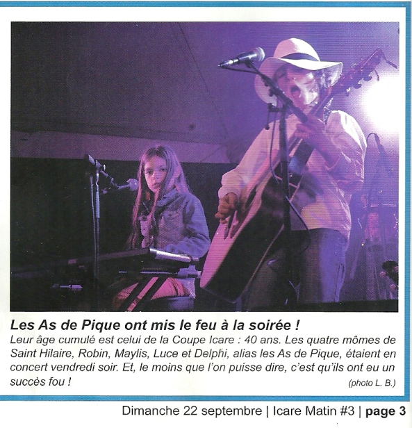 Article d'Icare Matin du 22/09/2013