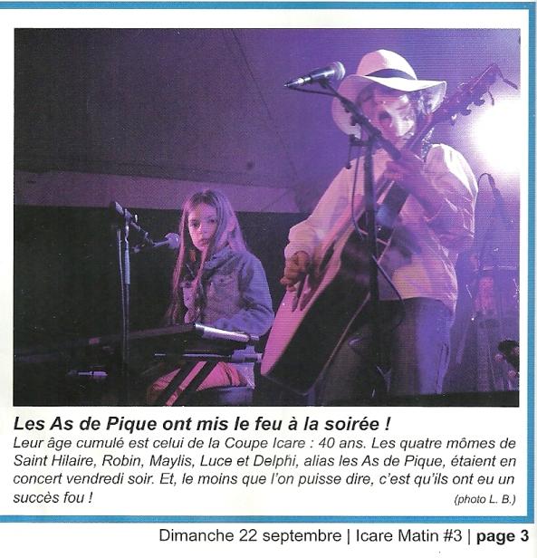 Article d'Icare Matin du 22/09/2013