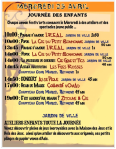 Programme Festiv'art Mercredi 23 avril 2014