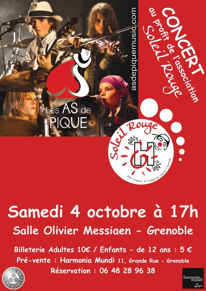 Un 4ème Concert pour Soleil Rouge à Grenoble